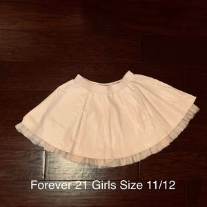 Forever 21 Girls Faux Leather Skirt (Size 11/12)